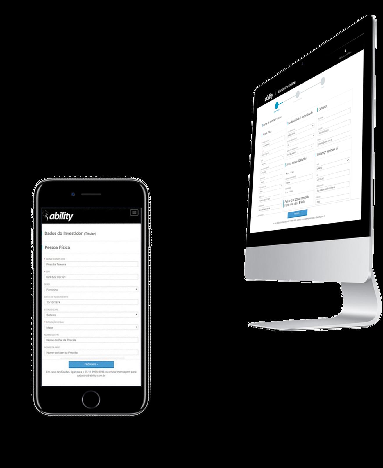 Software Portal de Clientes Cadastro Online Responsivo